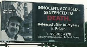 Innocent death penalty billboard