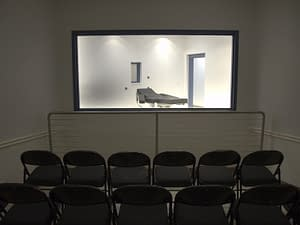 Public view of death chamber